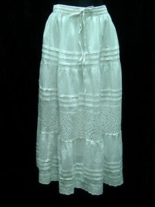 Skirt-Petticoat-slip-lined-100-cotton-boho-style-sizes-S-XL-elastic-waist-new