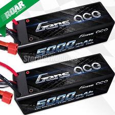 (2) Gens Ace 4S 5000mAh 14.8V 50C/100C LiPo batteries For 1/8 Racing RC8B3E MP9E