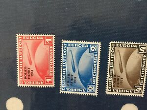 Germany Reich Zeppelin official reprints set of Polarfahrt 1931 spacefillers