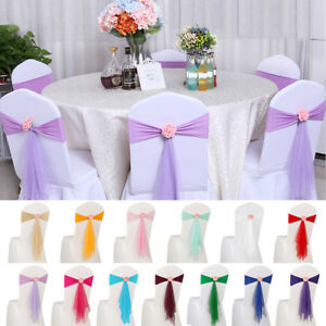 10-20-100Pcs-Spandex-Stretch-Ribbon-Chair-Cover-Sashes-Band-Bows-Wedding-Party