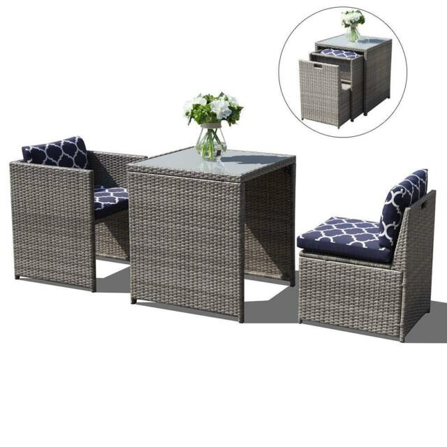 Buy 3pcs Outdoor Conversation Set Wicker Patio Furniture Sets With