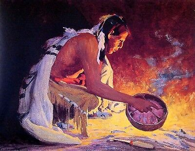 Irving Couse Indian Native American METAL FRIDGE MAGNET Indian Love Song E