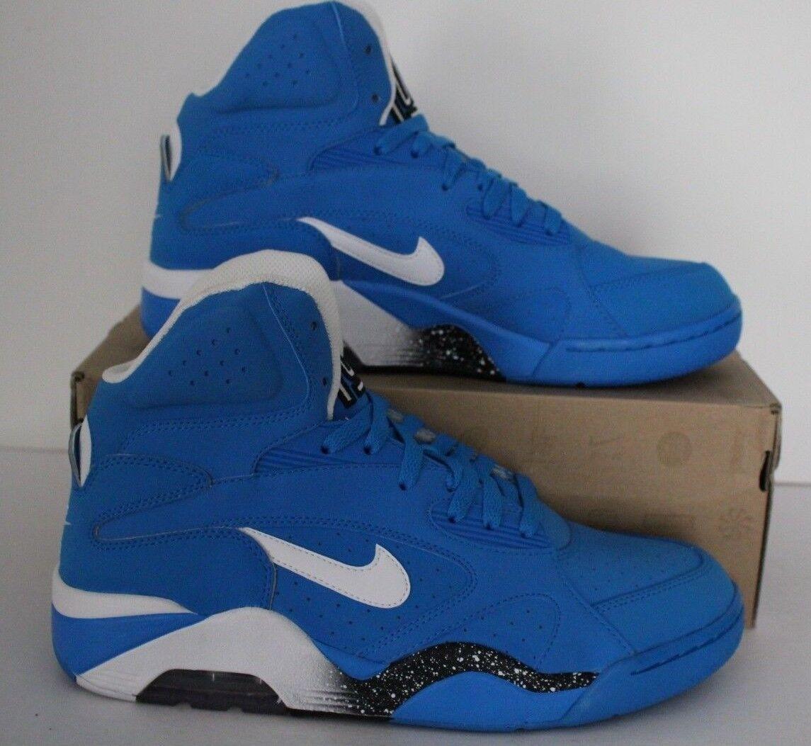 Nike Air Force 180 Mid Mid Mid Mens Retro Basketball Turnschuhe Sz 10 Photo Blau 537330 400 3fd0a4