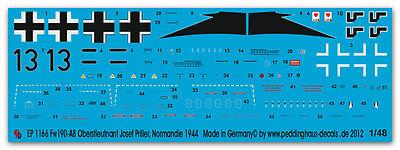 """Stab IV//J Peddinghaus-Decals 1//48 3543 Fw 190 D-9 Hauptmann Robert /""""Bazi/"""" Weiss"""