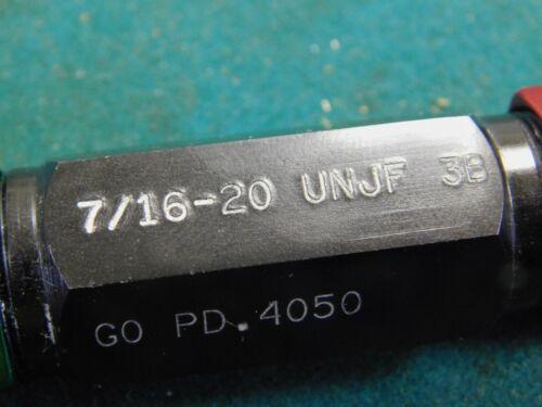 """USA Go No Go Thread Plug Gage Set   7//16/""""-20 UNJF-3B Left Hand"""