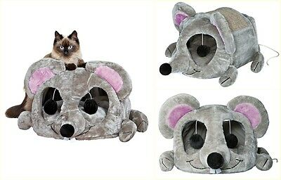 Toys Game Pet Furniture Wooden Cuddly Cave Cat Condo Tree Scratcher Grey  New | eBay