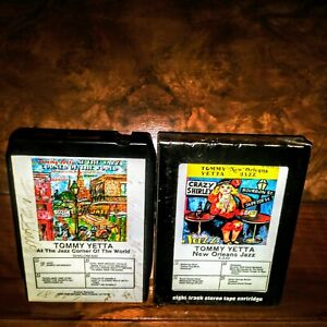 Lot of 2 8-track tapes TOMMY YETTA New Orleans Jazz. At Jazz Corner Of The World