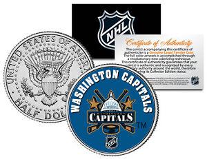 WASHINGTON-CAPITALS-NHL-Hockey-JFK-Kennedy-Half-Dollar-U-S-Coin-LICENSED