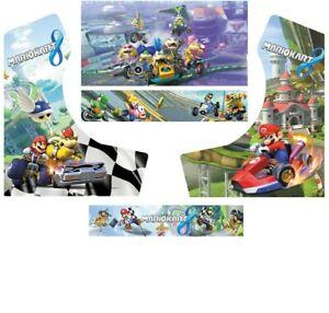 Stickers Bartop Mario Kart Autocollant Borne D'arcade