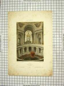 Original-Old-Antique-Print-Tombeau-De-Napoleon-Paris-France-Colour