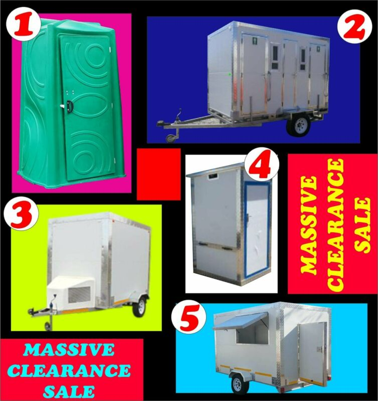 Mega Clearance Sale On Tents, Freezers And Mobile Toilets