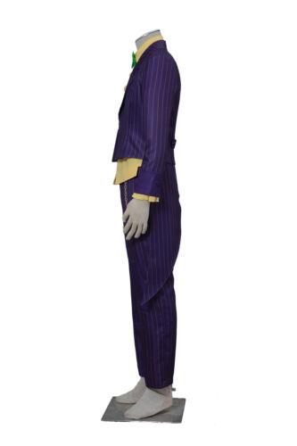 The Joker Batman Arkham City Cosplay Costume Clown Villain Outfit V2