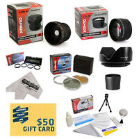 Ultimate 15 Piece Lens Bundle For Canon Powershot S3 Is S5 Is