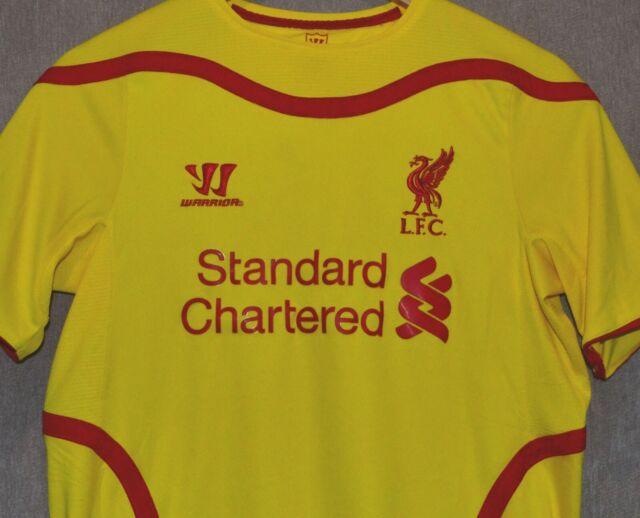 huge selection of 8aa6a 7b9dd Liverpool FC 2014 2015 Away T-shirt Jersey Warrior Camiseta Size YXL like S  Kit