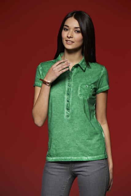 Poloshirt Damen James&Nicholson Gipsy Kurzarm Shirt 100% Baumwolle Spray Print
