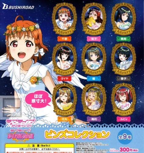 Character Metal Gacha Capsule Badge Pin Love Live You Angel Ver Sunshine!