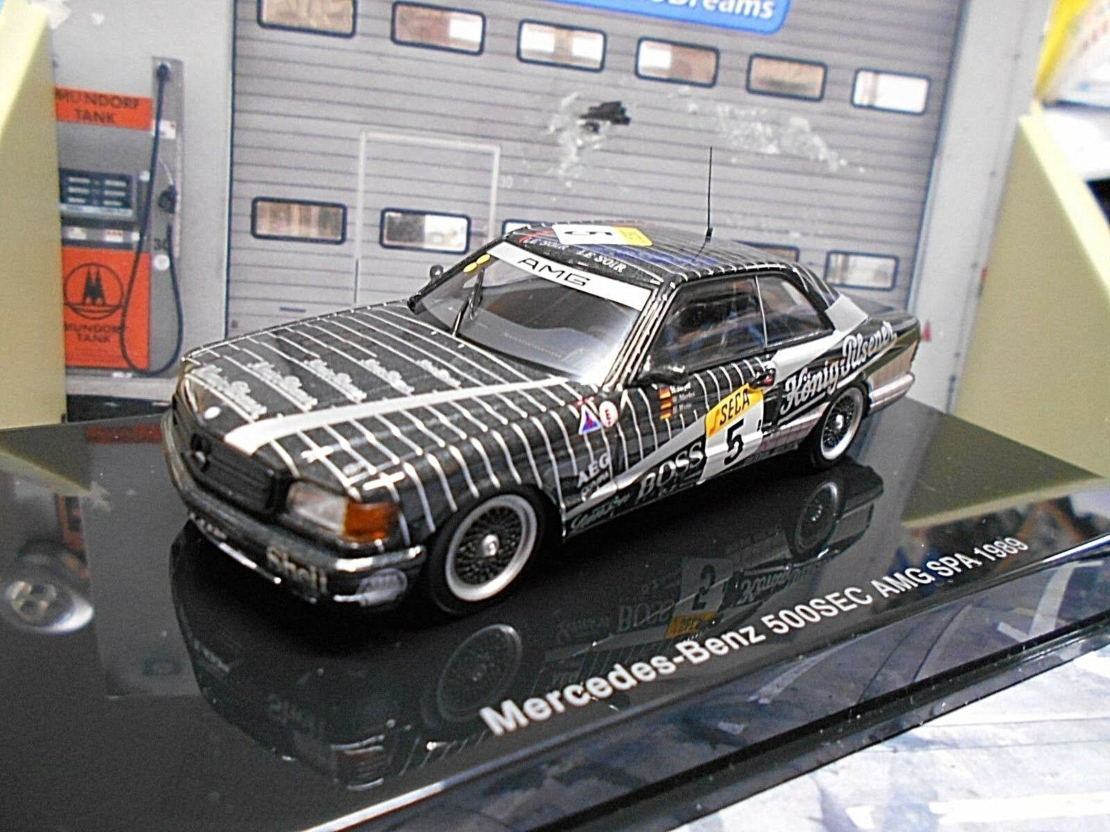 Mercedes Benz 500 SEC Roi Pilsener AMG 24 H Spa  5 1989 Heyer c126 AUTOART 1 43