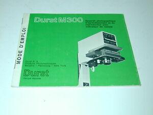 DURST M 300 notice 12x14 cm en français pour agrandisseur photo photographie