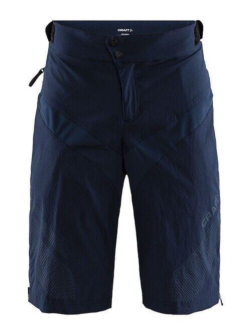 Craft Route CT Pantaloncini Robusto e di Casual Pantaloni Moto per Uomini in blue