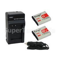 2 Battery & Charger Combo Kit For Sony Np-bg1 Dsc-hx5 Hx5v Hx7v Hx9v W30 W90