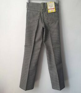1b900980 Image is loading vintage-wrangler-railroad-stripe-jeans-student-size-12-