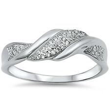 Cubic Zirconia Fashion .925 Sterling Silver Ring Sizes 5-11 MODERN