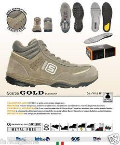 Saratoga 56647 Gold Sicherheitsschuhe Arbeitsschuhe S1P metallfrei 545g leicht