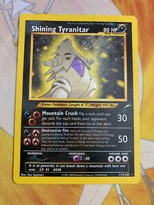 Shining Tyranitar 113/105 Holo Neo Destiny Pokemon Card ...