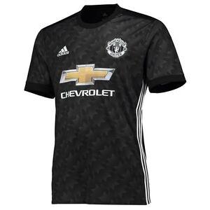 adidas Manchester United 2017 - 2018 Away Soccer Jersey Brand New Black | eBay