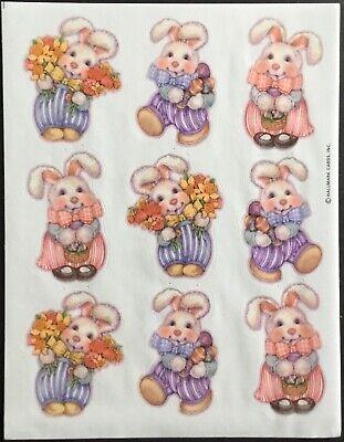 Easter Dated 1984 Hallmark Vintage Stickers