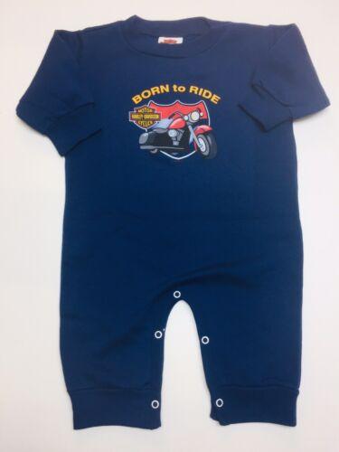 "Details about  /Harley-Davidson Baby one Piece sweatshirt romper /""Born to Ride/"" 12 Mos."