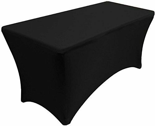 4 ft Dj Table Cover Stretch Scrim Spandex Type Table Skirt Facade Cover Up