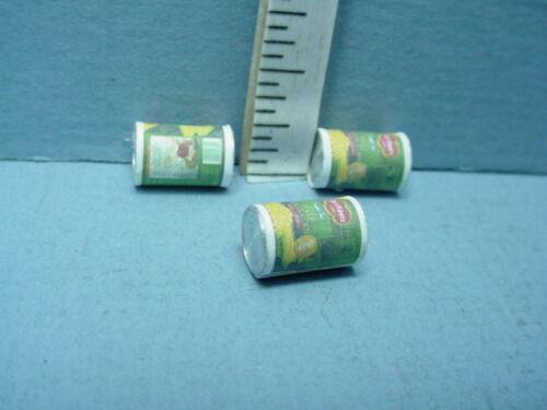 Dollhouse Miniature Whole Kernel Corn 3 Cans  #A2684 Falcon Miniatures 1//12th