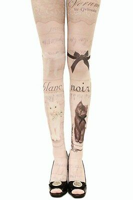 80 Den Women tattoo tights pantyhose stockings thigh-highs cosplay sweet Japan