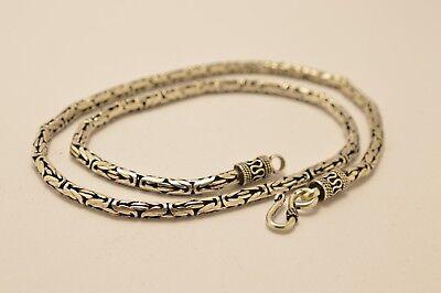 """Der GüNstigste Preis 925 Sterling Silver 4.2mm Bali Chain / Byzantine Necklace. 45g, 52cm, 20.5"""" Durchblutung Aktivieren Und Sehnen Und Knochen StäRken"""
