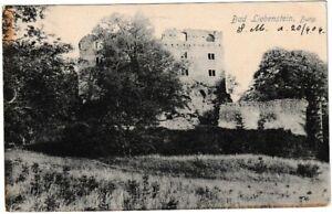 Ansichtskarte-Bad-Liebenstein-Blick-auf-die-Burg-schwarz-weiss-1906