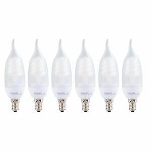 20x PHILIPS Energiesparlampe Kerze E14,8 Watt warmweiß Lampe wieTerracotta Flame