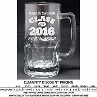Personalized 32oz Graduation Glass Mug Graduate Class Of 2016 Gift Custom Steins