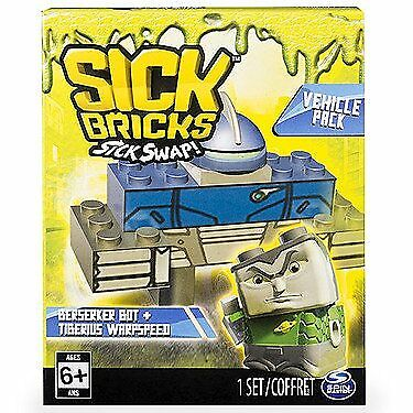 Malade Briques Véhicule Packs malade Swap Building Construction Jouet SpinMaster 6+