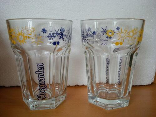 6 sous bocks 6 verres à bière blanche Hoegaarden 25cl