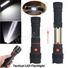 1200LM COB LED Flashlight Magnetic END Black Work Light Inspection Lamp Torch