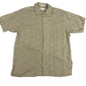 Geoffrey-Beene-Mens-Botton-Up-Shirt-Size-Medium-Short-Sleeve