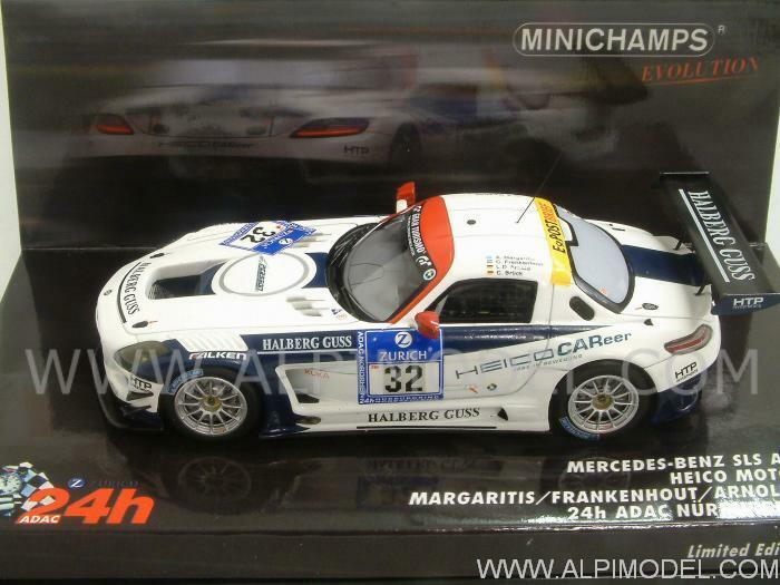 Mercedes SLS AMG GT3 Nurburgring 2011 Margaritis 1 43 MINICHAMPS 437110332