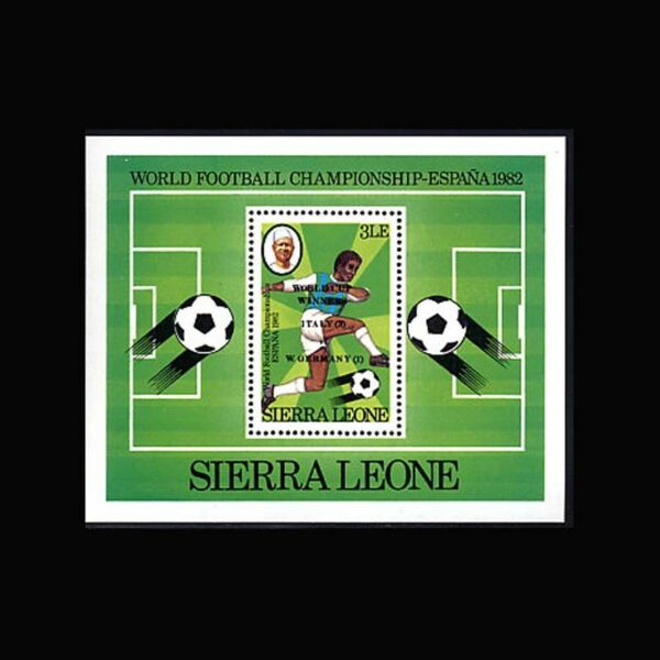 Sierra Leone, Sc #551, Mnh, 1982, S/s, Soccer, World Cup, So028f