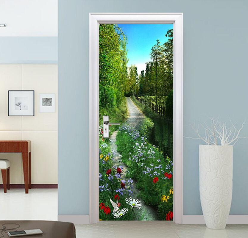 3D Grasland 738 Tür Wandmalerei Wandaufkleber Aufkleber AJ WALLPAPER DE Kyra