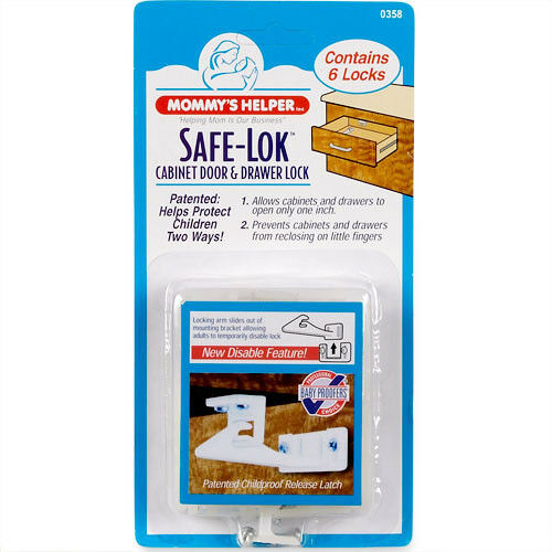 Mommy/'s Helper 6 Pack Quick Disable Drawer /& Cabinet Door Latch Safe-Lok 88507