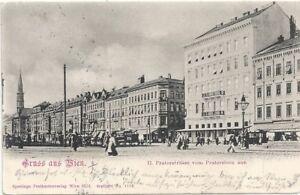 KüHn Wien Ii AusgewäHltes Material Praterstrasse Vom Praterstern Aus 1901 Mit Fahrzeugen Usw.