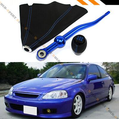 For 1993-1997 Honda Del Sol Aluminum Dual Bend Blue Quick Short Throw Shifter