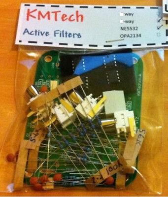 NEW ! LR mono 2-way active filter by KMTech BALANCED/UNBALANCED INPUT DIY KIT