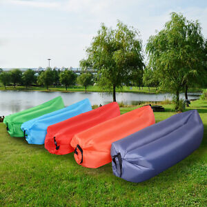Lounger inflatable air bed sofa lazy sack hangout camping Camping blow up sofa